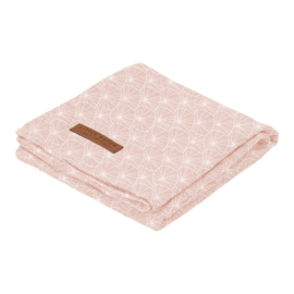 Swaddle doek 120 x 120 Lily Leaves Pink