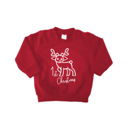 "1st Christmas sweater ""Rood"""
