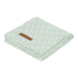 Swaddle doek 120 x 120 Lily Leaves Mint