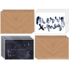 X-mas cards Annet Weelink Set 8 stuks