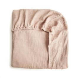 Extra Soft Muslin Crib Sheet (Blush)