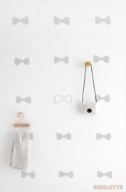 Behang Strikjes - zeegroen