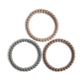 Pearl Teething Bracelet (Clary Sage/Tuscany/Desert Sand)