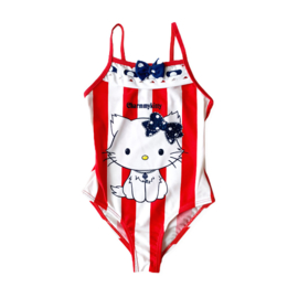 Hello Kitty stripes badpak red