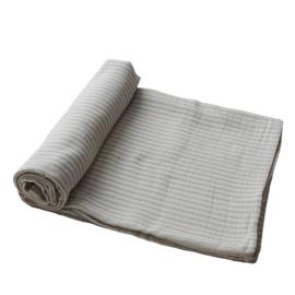 Muslin swaddle blanket sage stripes