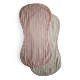 Muslin Burp Cloth (Blush/Fog)