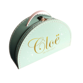 Naam koffer mint sparkle
