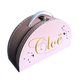 Naam koffer pink sparkle