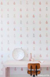 Behang Peertjes roze