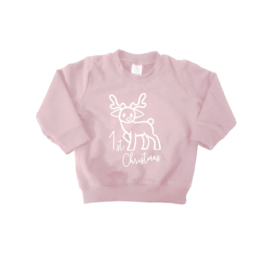 "1st Christmas sweater ""Roze"""