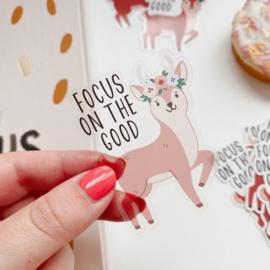 Deer sticker  -Focus on the good-