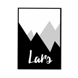Mountain poster monochrome