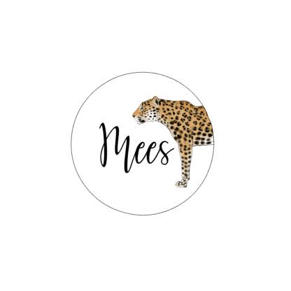 Stickervel leopard naam