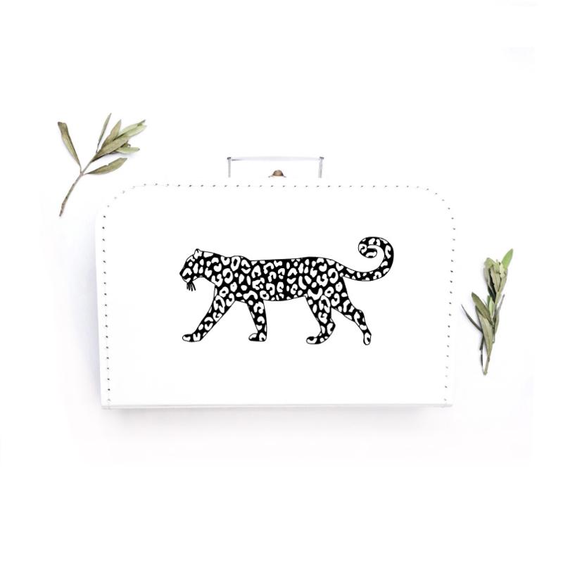 "XL koffer ""Leopard"""