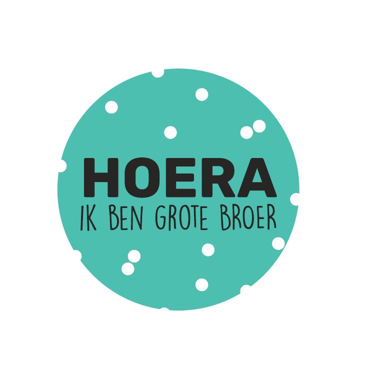 Stickers - Hoera ik ben grote broer
