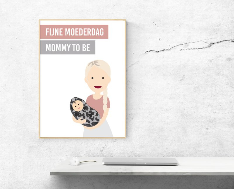 Mommy to be (moederdag poster)