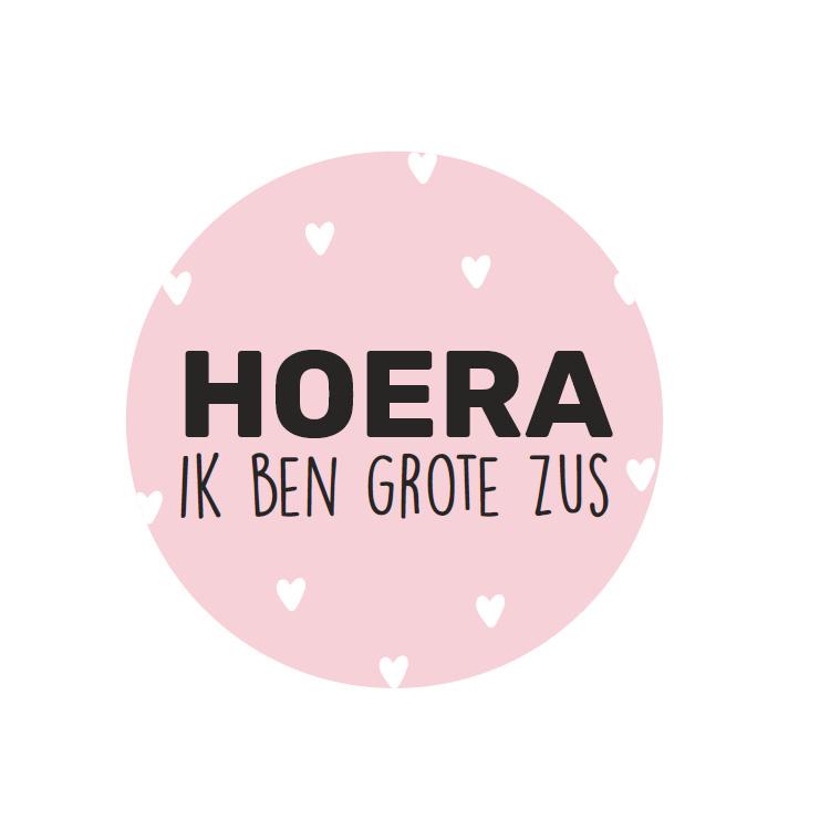 Stickers - Hoera ik ben grote zus