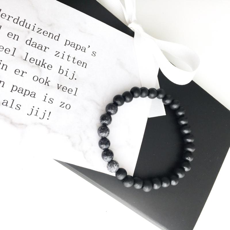 Natuurstenen heren armband