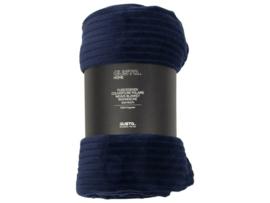 Fleecedeken Gusta - blauw