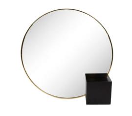 Spiegel rond - zwart