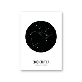 MOODZ design Sterrenbeeldkaart - Boogschutter