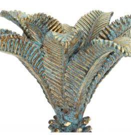 Kandelaar palmboom - goud/blauw