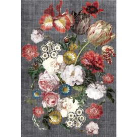 Karpet Bouquet grijs