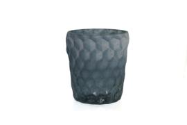 Waxinelichthouder blauw - 11x9,5 cm