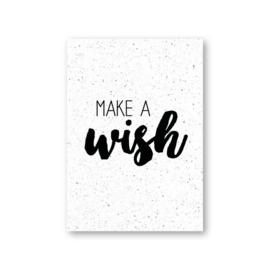 MOODZ design kaart A6 - Make a wish