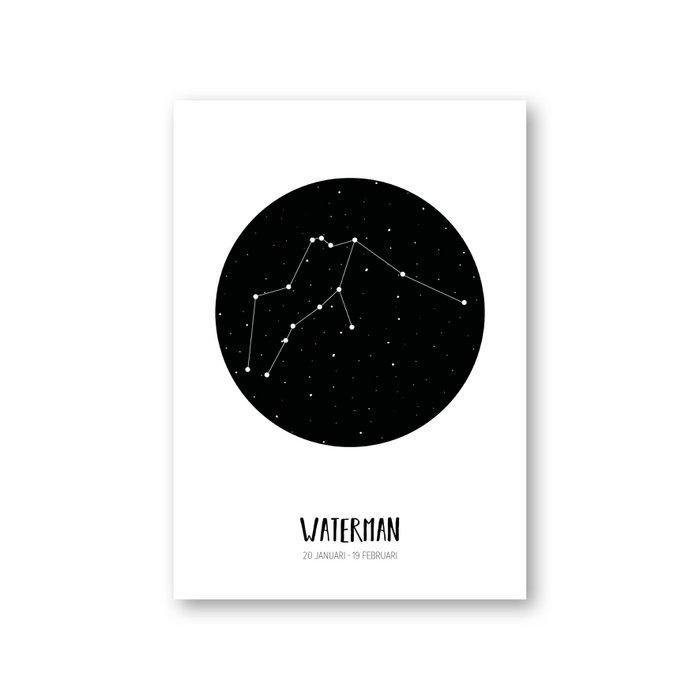 MOODZ design Sterrenbeeldkaart - Waterman