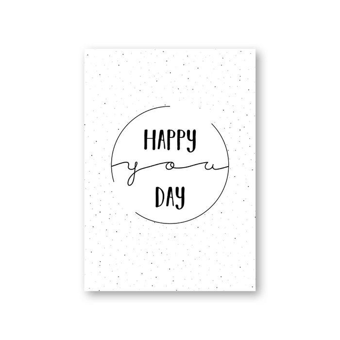 MOODZ design kaart A6 - Happy you day