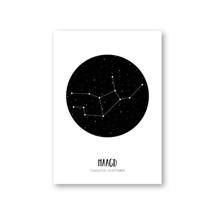MOODZ design Sterrenbeeldkaart - Maagd