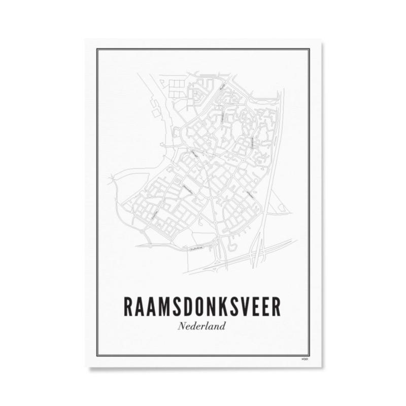 Wijck poster Raamsdonksveer - 21x30cm