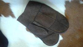 Wanten patchwork lamsvacht gevoerd