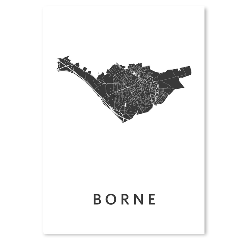 Borne city map