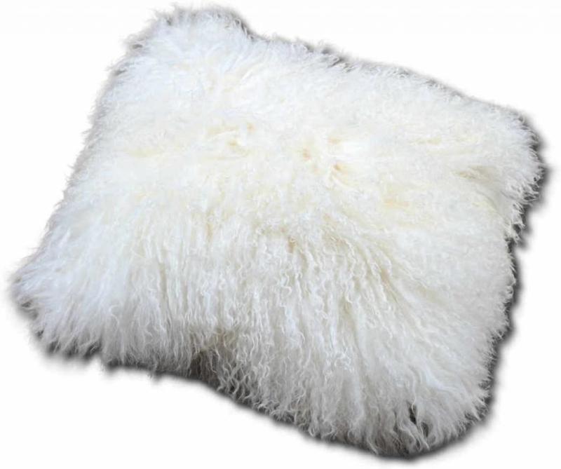 Kussen tibetaanse schapenvacht