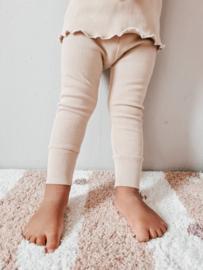 Rib Legging Beige