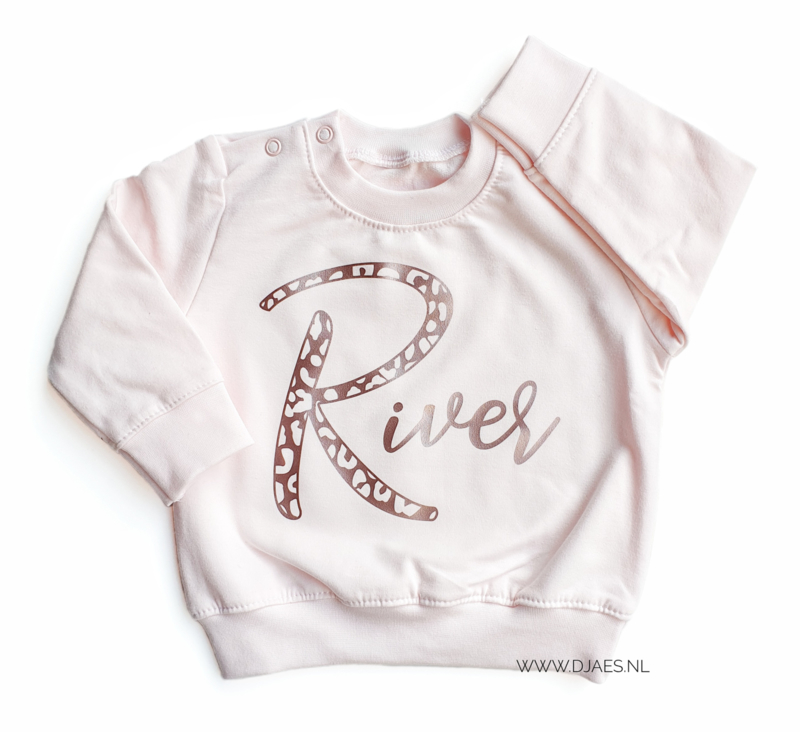 Leopard Letter Name Sweater