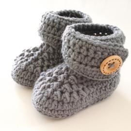 Newborn Booties Merino Grey