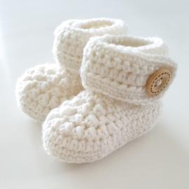 Newborn Booties Merino Offwhite