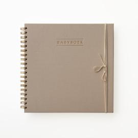 Babyboek - Taupe Linnen