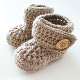 Newborn Booties Merino Sand