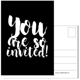 KAART / YOU ARE SO INVITED! 4 STUKS