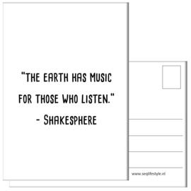 KAART / THE EARTH HAS MUSIC 4 STUKS