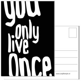 KAART / YOU ONLY LIVE ONCE 4 STUKS