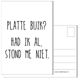 KAART / PLATTE BUIK? 4 STUKS