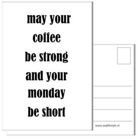 KAART / MAY YOUR COFFEE 4 STUKS