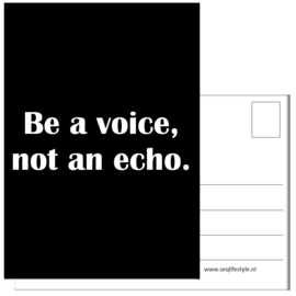 KAART / BE A VOICE 4 STUKS