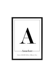 GEBOORTEPOSTER | ANNELORE
