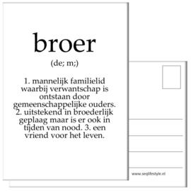 KAART / BROER 4 STUKS